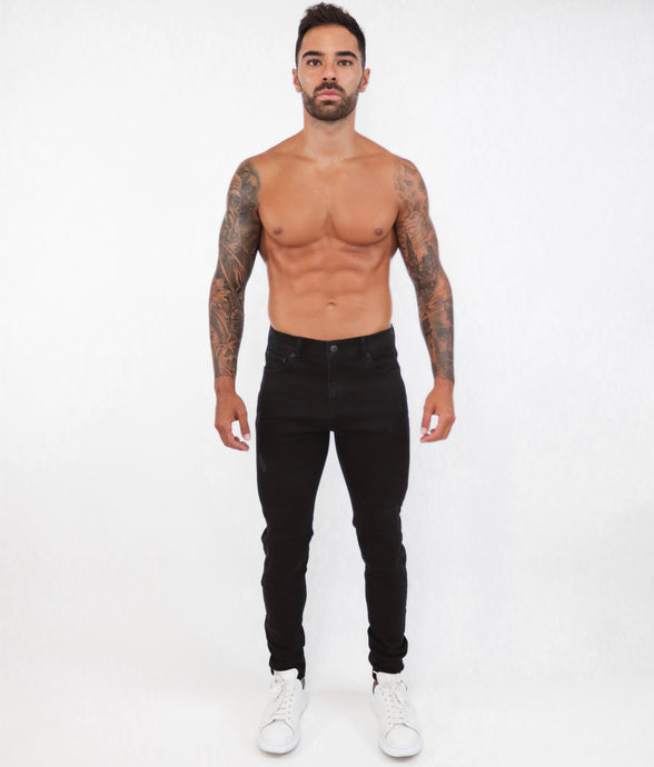 Black Skinny Jeans Small Repaired