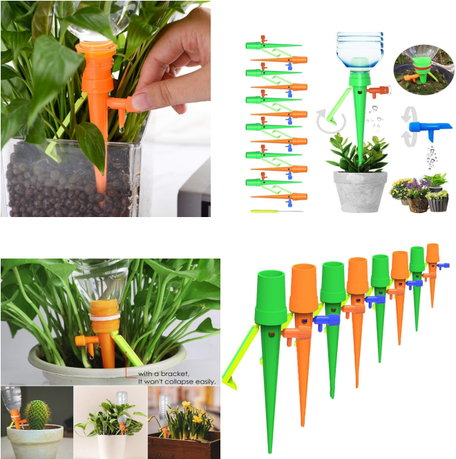 Automatic watering device adjustable water flow dripper Irrigation with bracket