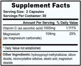 Vitamin C w/ Magnesium - Boomers Forever Young