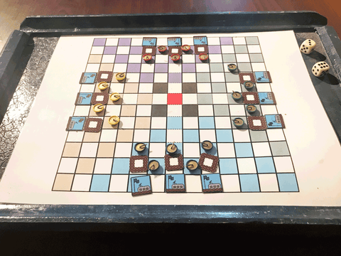 25-year-old Tanks, But No Thanks prototype game board