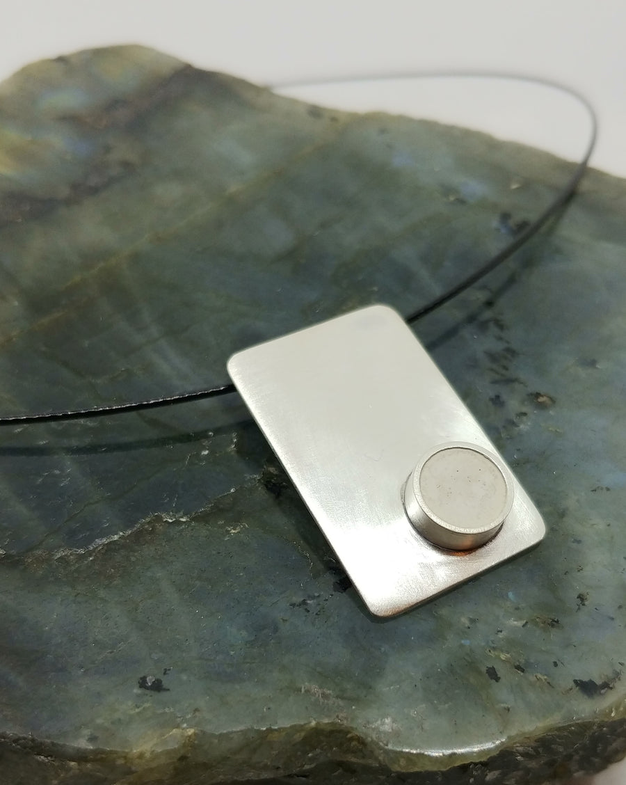 Urban Legend - Rectangle Pendant with Concrete - MARTINIJewels