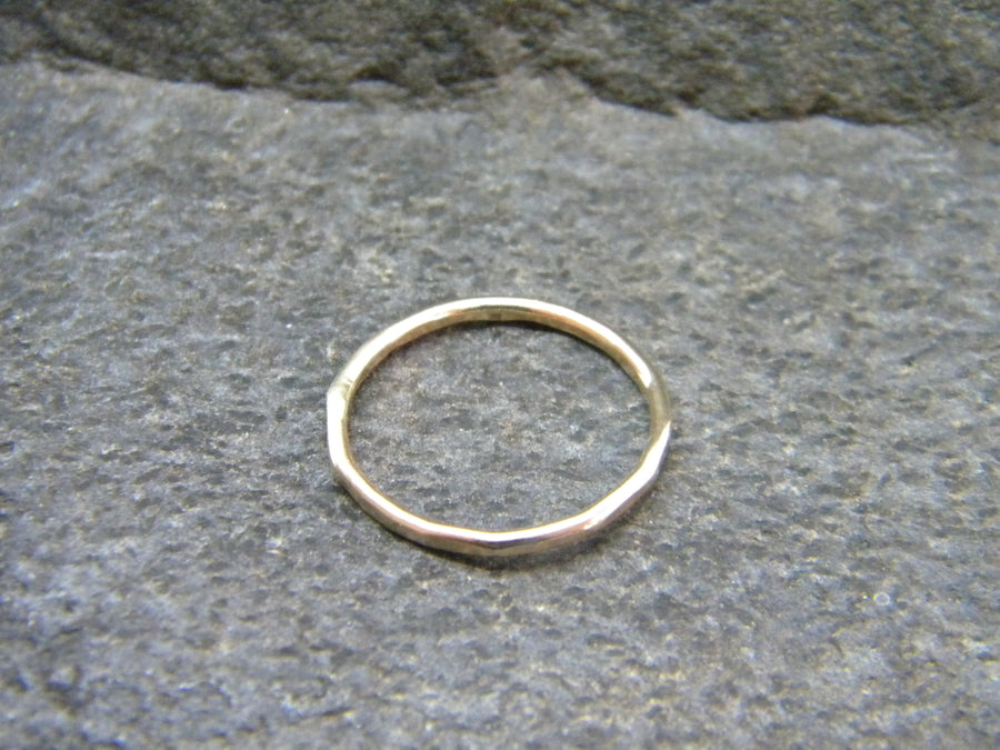 14 kt Solid Gold or 14kt Gold Filled Ring - Hammered Finish - MARTINIJewels