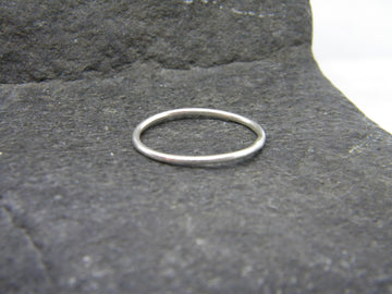 Recycled Sterling Silver Stacking Ring, Smooth Finish - MARTINIJewels