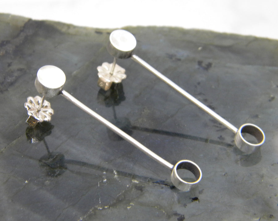 Minimalism Collection - Barbell Post Earrings - MARTINIJewels