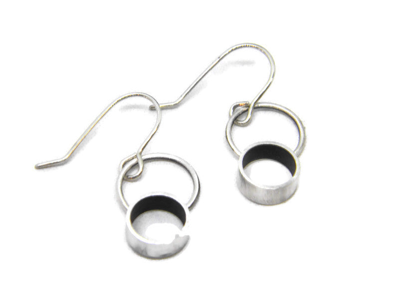 Minimalism Collection - Cylinder Halo Earrings available in 2 Colors - MARTINIJewels