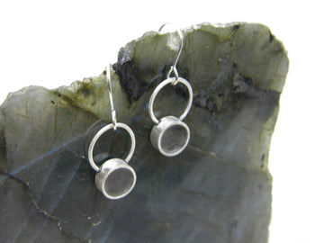 Urban Legend Series - Small Hoop Earrings with Tinted Concrete - V13 - MARTINIJewels