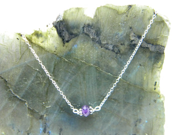 Natural Gemstone Healing Necklace - Amethyst