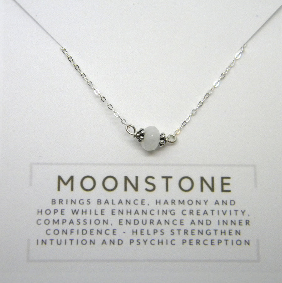 Natural Gemstone Healing Necklace - Moonstone - MARTINIJewels