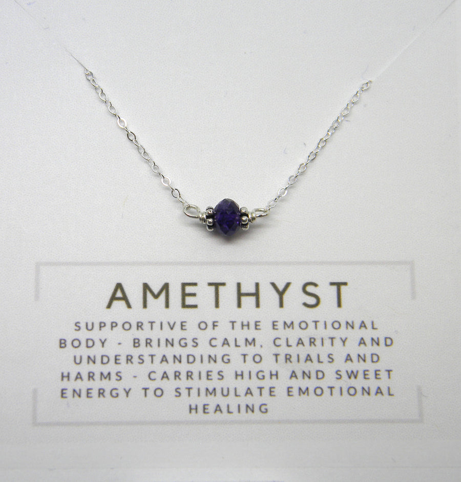 Natural Gemstone Healing Necklace - Amethyst - MARTINIJewels
