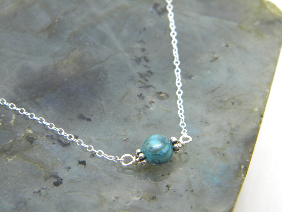 Natural Gemstone Healing Necklace - Blue Jasper - MARTINIJewels