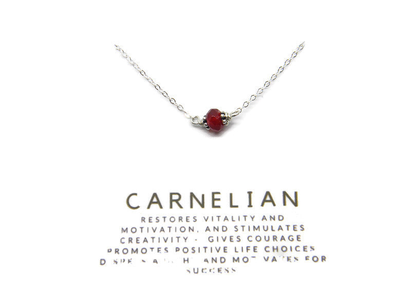 Natural Gemstone Healing Necklace - Carnelian - MARTINIJewels