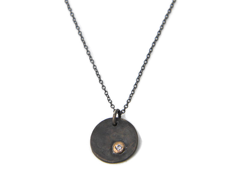 North Star Collection - Oxidized Silver Necklace - MARTINIJewels