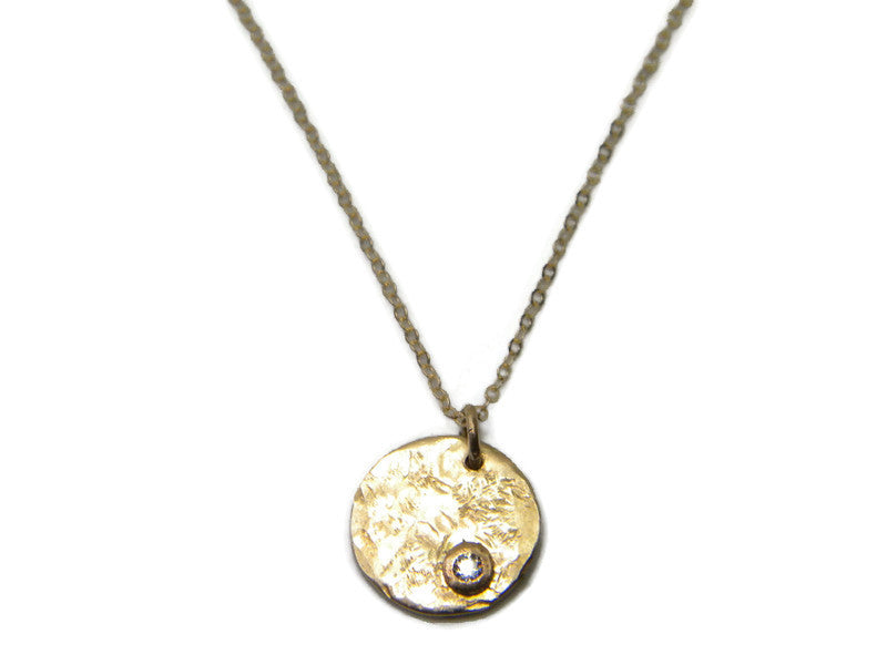 North Star Necklace in 14 kt Solid Gold with Genuine Diamond - MARTINIJewels