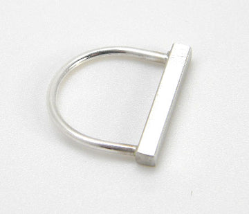 Minimalism Collection - Recycled Sterling Silver Bar Ring - MARTINIJewels