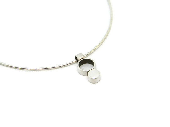Minimalism Collection - Button Tube Necklace - MARTINIJewels