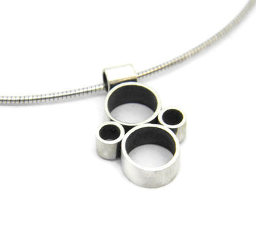 Minimalism Collection - Multi Tube Pendant in Recycled Sterling Silver