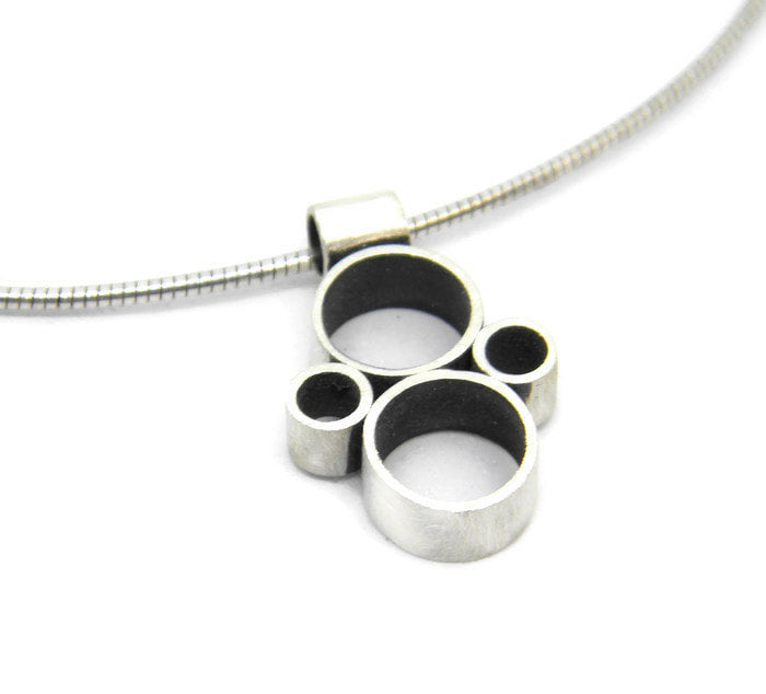Minimalism Collection - Multi Tube Pendant in Recycled Sterling Silver - MARTINIJewels