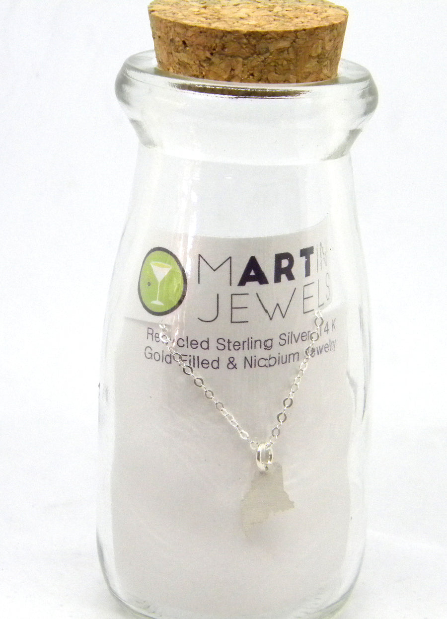 State Love - Maine Charm in Recycled Sterling Silver - MARTINIJewels