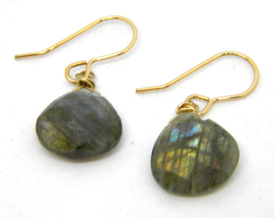 Labradorite Earrings with Traditional or Contemporary Gold Ear Wires - MARTINIJewels