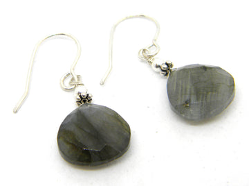 Labradorite  Earrings with Silver Traditional of Contemporary Ear Wires