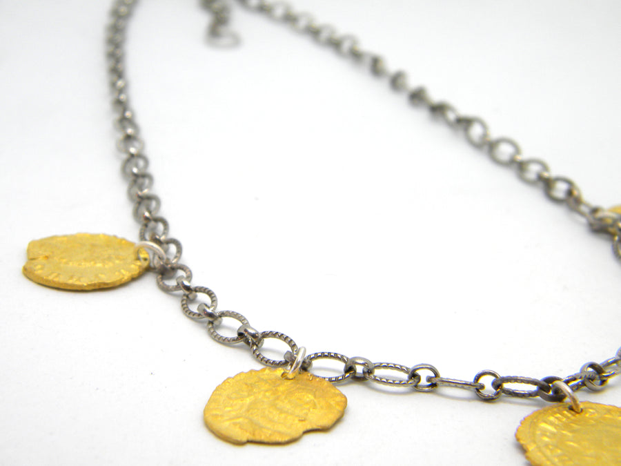 Roman Coins Collection - Statement Necklace for History Lovers - MARTINIJewels