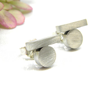 Minimalism Collection - Balance Post Earrings - MARTINIJewels