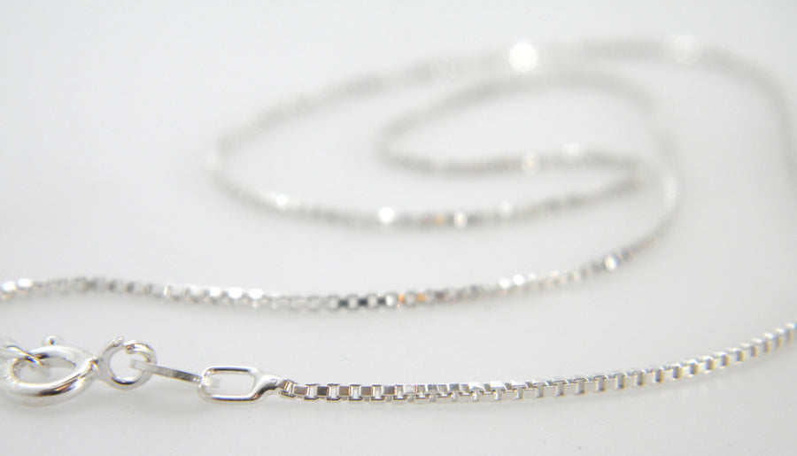 Sterling Silver Box Chain - MARTINIJewels