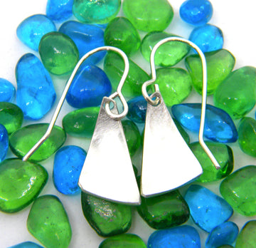 Americas Cup Collection - Small Sail Earrings - MARTINIJewels
