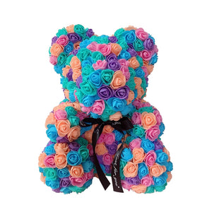 Rose Bear - Love Two-Tone Heart Medium - Cotton Candy - Limited Edition