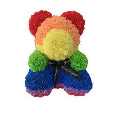 Load image into Gallery viewer, Rose Bear - Love Two-Tone Heart Medium - Rainbow - Limited Edition