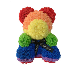 Rose Bear - Love Two-Tone Heart Medium - Rainbow - Limited Edition