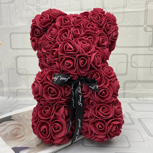 RoseBear™  Mini – Wine Red - RoseBears™ Official Store