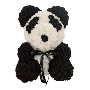 Rose Bear - Love Two-Tone Heart Medium - Panda - Limited Edition