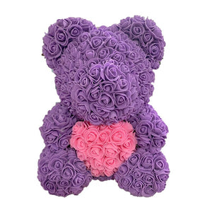 Rose Bear - Love Two-Tone Heart Medium - RoseBears™ Official Store