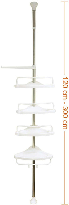 4 Tier Adjustable Stainless Telescopic Shower Corner Bathroom Shelf Rack Caddy - 1032 Bathroom Shower Caddy