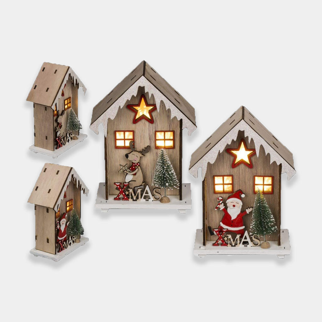 Led Wooden House/Wooden Ornament/Tabletop Decoration
