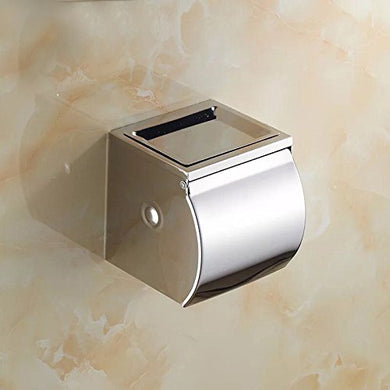 Stainless Steel Wall Mounted Tissue Toilet Paper Roll Holder With Cover Tissue roll Holder