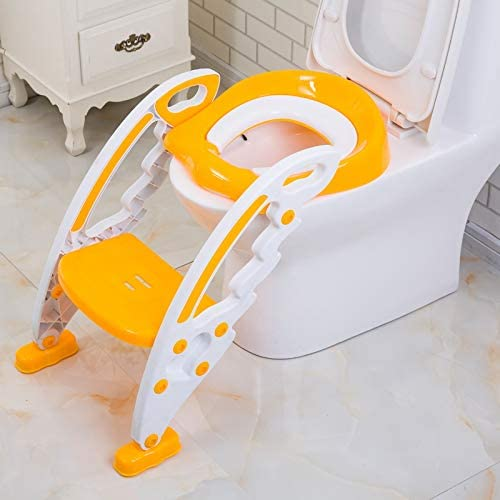 Baby Toddler Potty Trainer | Toilet Ladder | Adjustable Height | Eco-Friendly Toilet Ladder Seat Steps