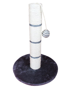 Cat Sisal Scratch Post Scratching Pole Comfy Plush Round Base Scratch Post