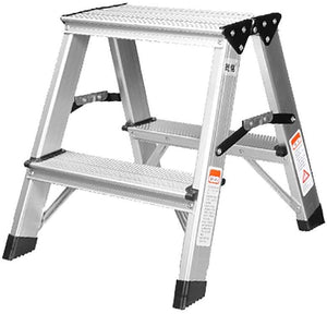 150 kg Capacity Aluminium Double Sided Step Stool Ladder Folding A-Type (45cms) Step Stool