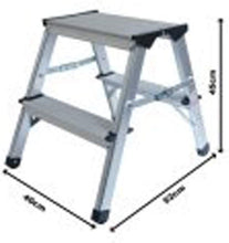 Load image into Gallery viewer, 150 kg Capacity Aluminium Double Sided Step Stool Ladder Folding A-Type (45cms) Step Stool