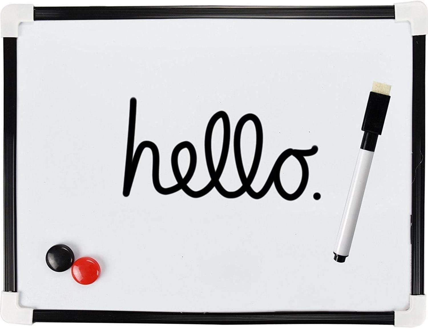 Smooth-Surface Dry Wipe White Board with 2 Magnets and 1 Eraser Pen