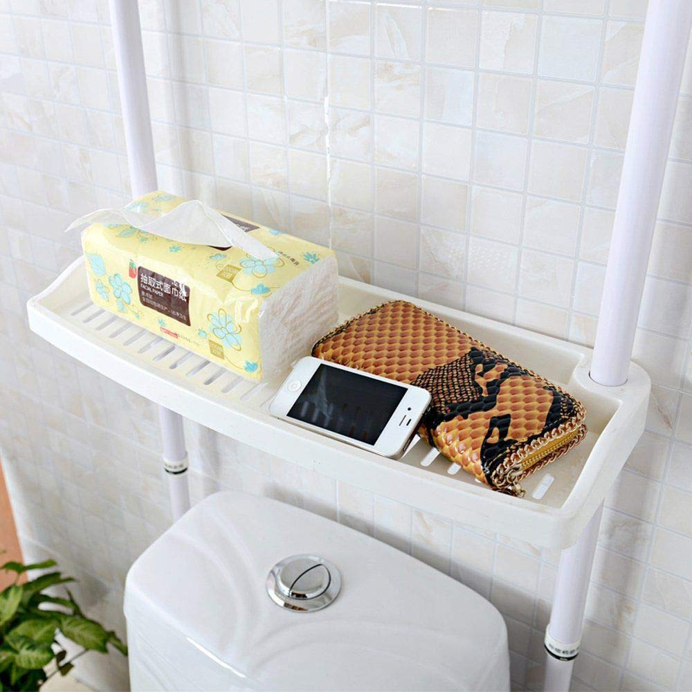 Over The Toilet 4 Layered Adjustable Kitchen Bathroom Caddy Shelf Bathroom Storage Caddy