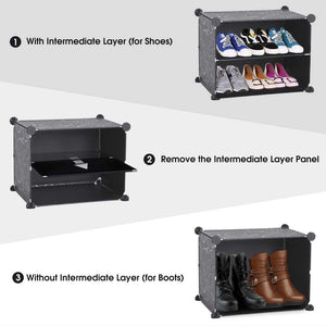 Black Shoe Rack