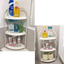 Load image into Gallery viewer, Free Standing Corner 3 Tier Shower Storage Caddy White Corner Storage Caddy