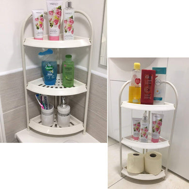 Free Standing Corner 3 Tier Shower Storage Caddy White Corner Storage Caddy