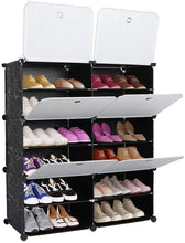 Load image into Gallery viewer, Black Shoe Rack