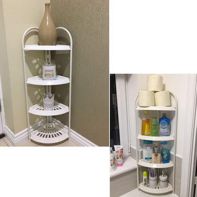 Free Standing 4 Tier Shower Storage Caddy White Storage Caddy