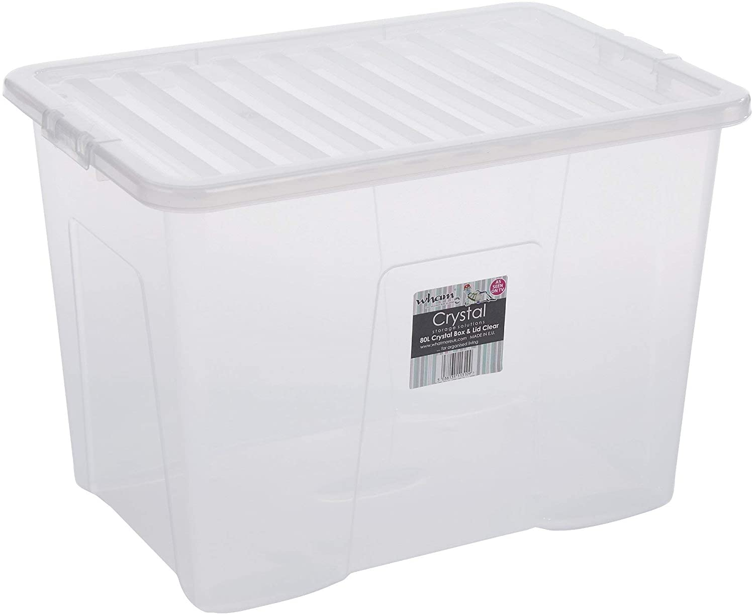 WHAM CRYSTAL 80L BOX & LID CLEAR by Whatmore