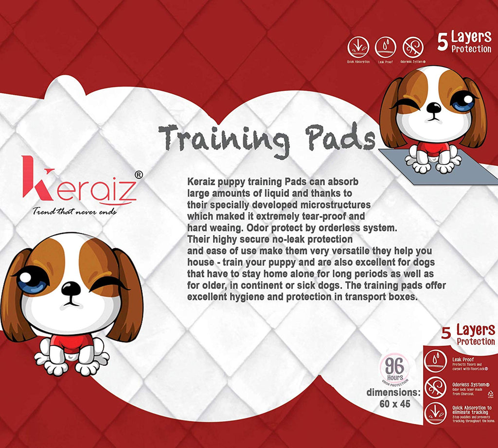 Pet Puppy Large Training Wee Pads/Mats Ultra Absorbent Anti Slip 56 x 56 cms 50 Pack Puppy Pads